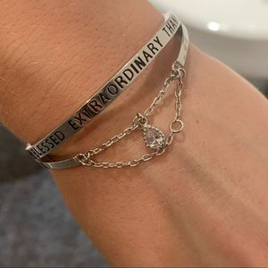 Jewelry - FREE WITH PURCHASE🌷 Goodworks silver bracelet